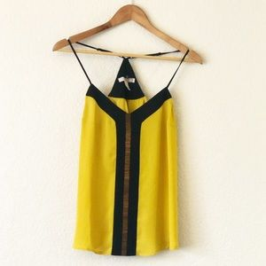 Forever 21 Yellow & Black Tank Top, Size Small